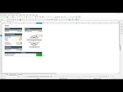 Immoprentice Cashflow Excel - Berechne den Cashflow deiner Immobilien