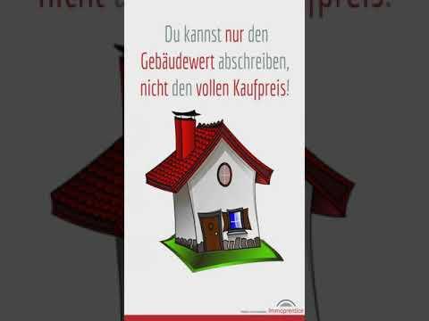 Was muss ich zur AfA Abschreibung von vermieteten Immobilien wissen? #shorts