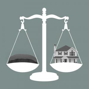 Bei einer Eigentumswohnung kaufst du immer zwei Dinge: deine Wohnung und einen Anteil Grund und Boden.